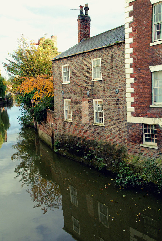 Description of . The River Foss in York (Photograph by Dennis Lennox)