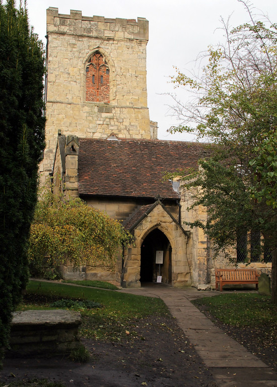 Description of . The exterior of Holy Trinity Church, Goodramgate (Photograph by Dennis Lennox)