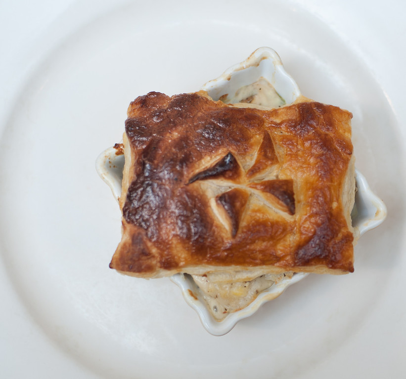 Description of . Chicken potpie is shown at the Market on Main, which chef Emma Currie said is