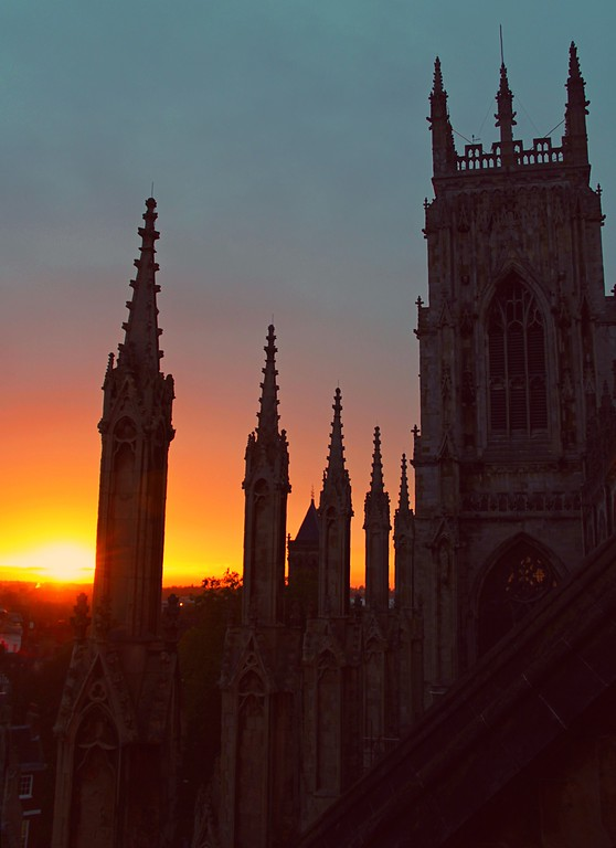 Description of . The sunset from atop the York Minster (Photograph by Dennis Lennox)