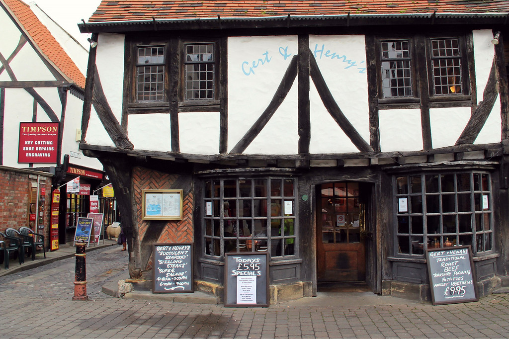 . A pub near the Newgate market, which goes back to medieval times (Photograph by Dennis Lennox)