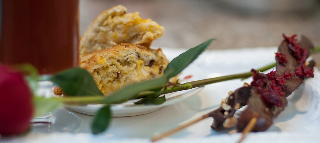 . Bacon cheddar & chive scones are shown at the at the Market on Main in downtown Mt. Pleasant, Mich. (Sun photo by Holly Mahaffey/@hollymahaffey)